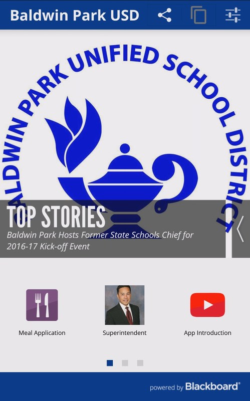 Baldwin Park Unified's new smartphone app provides a direct line to District news, bus schedules, lunch menus, calendars, and student and family resources.