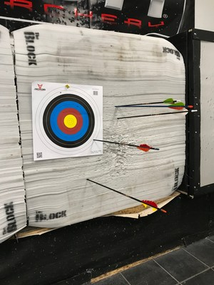 A target with arrows