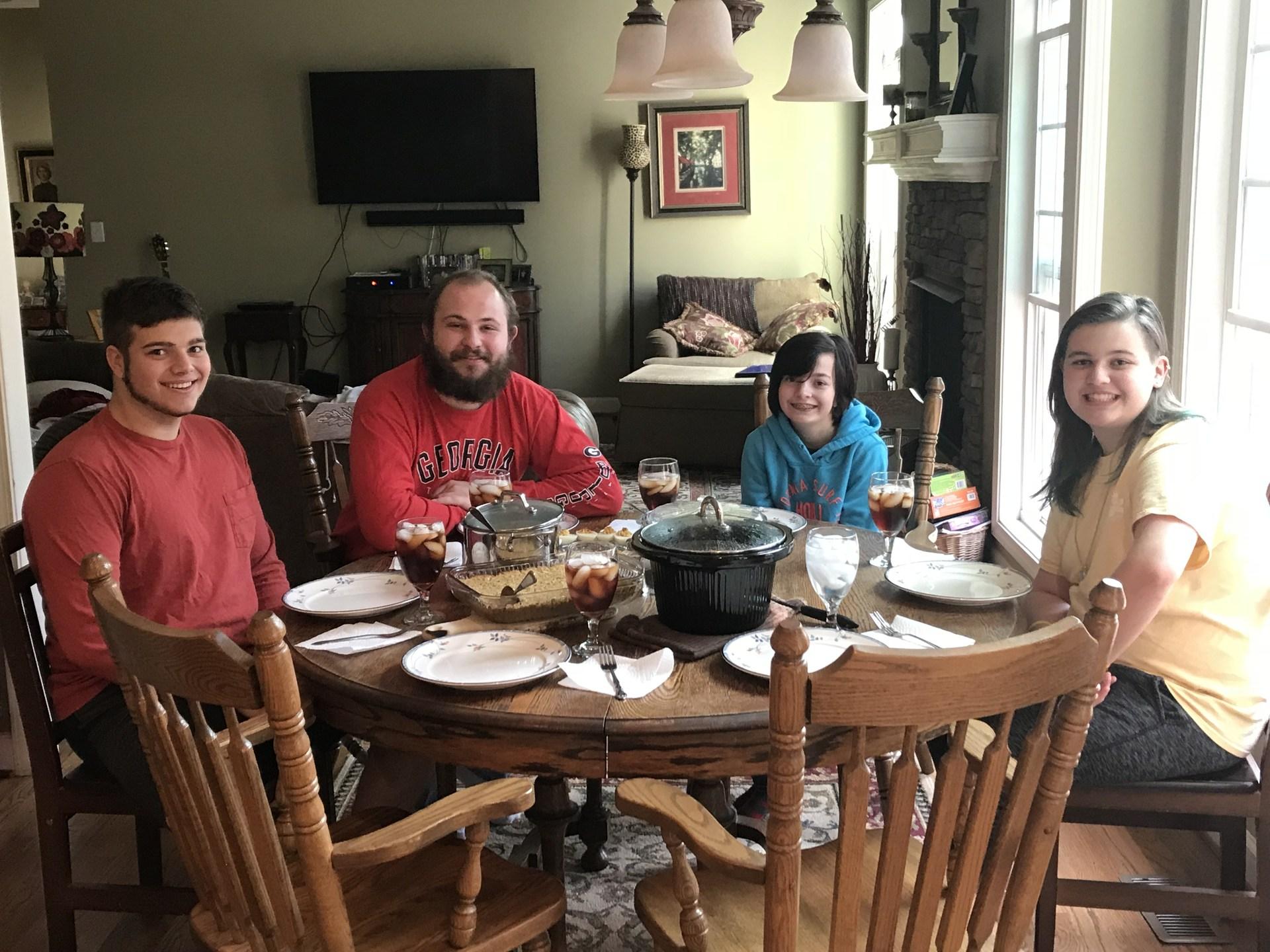 My children at Thanksgiving Dinner 2017