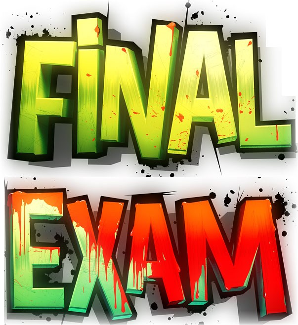 Image of the words Final Exam