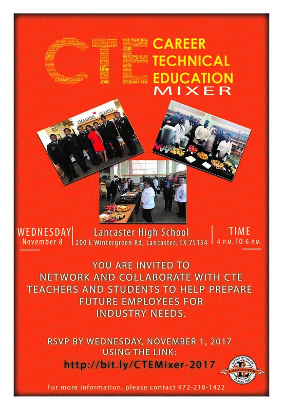 Lancaster ISD to Host Its Fall CTE Business Mixer - November 8 Thumbnail Image