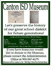 Canton ISD Pamplet for Museum