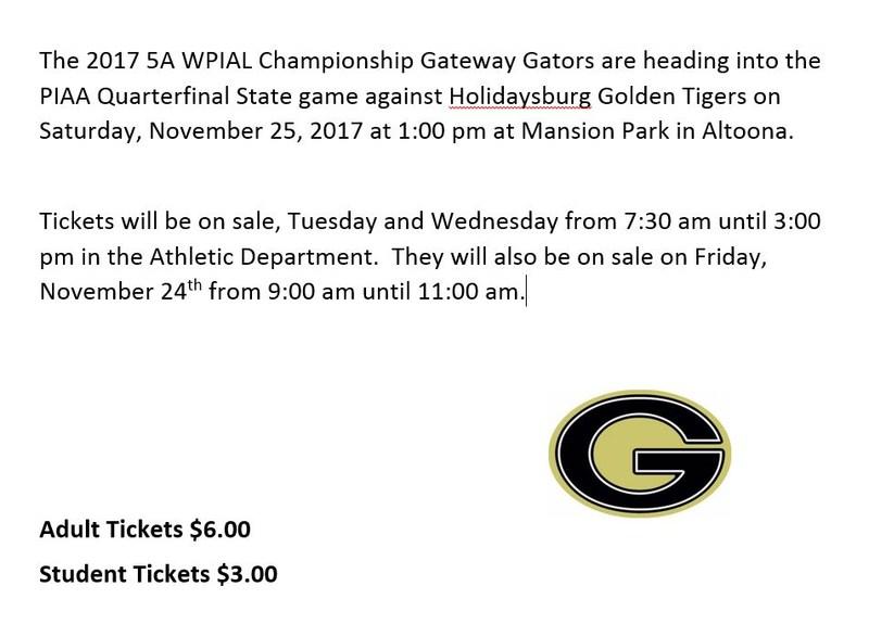 PIAA Quarterfinal State Game Ticket Information Thumbnail Image