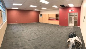 This one of the red themed classrooms on the red wing.