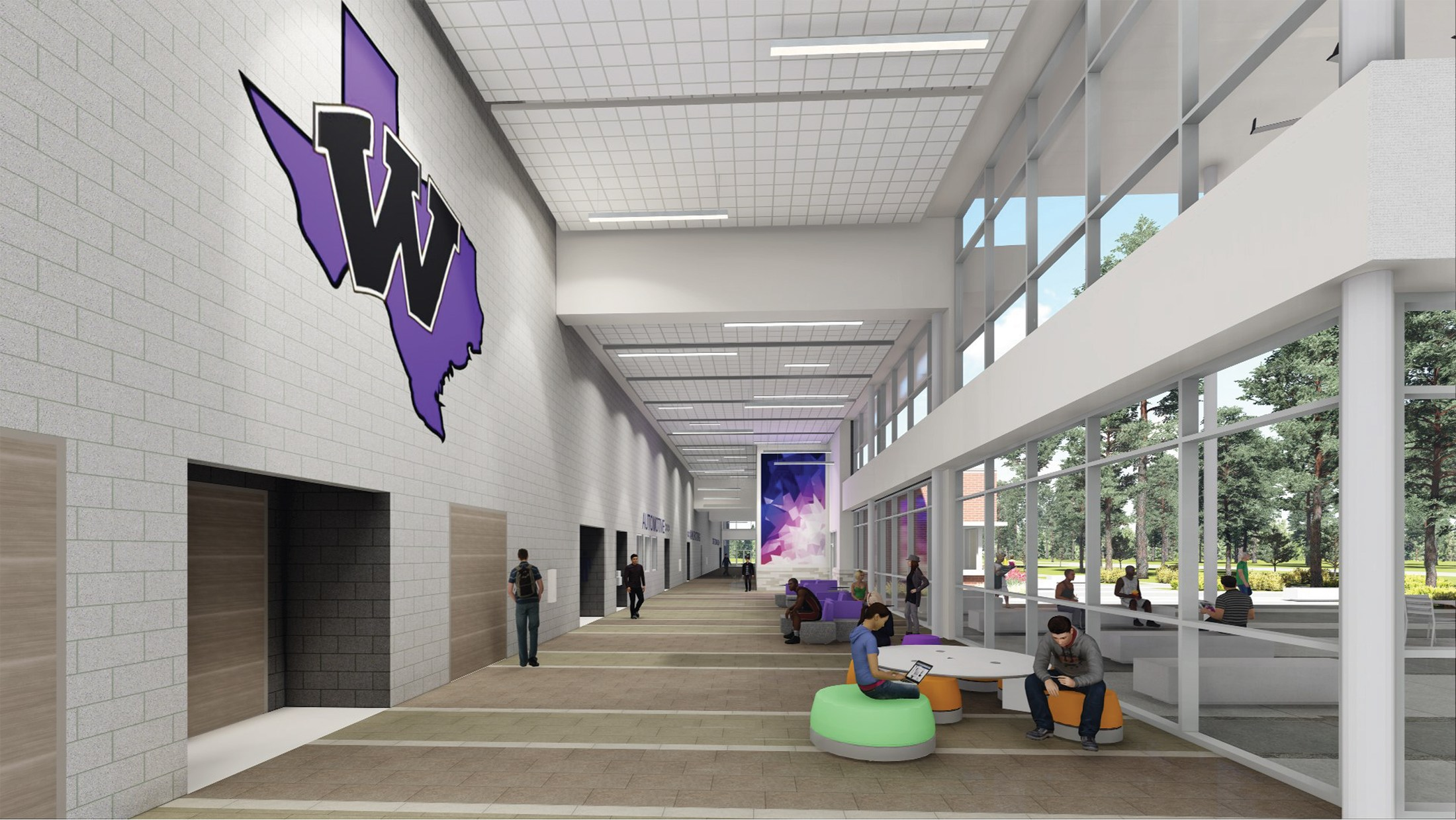 Interior render of the CTE Building