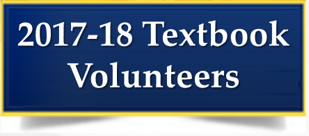 2017-18 Textbook Volunteers Needed! Thumbnail Image