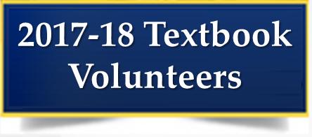 2017-18 Textbook Volunteers Needed! Thumbnail Image