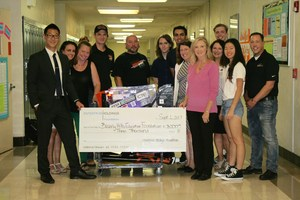 Enterprise Awards $3000 check to BHEF/BHHS