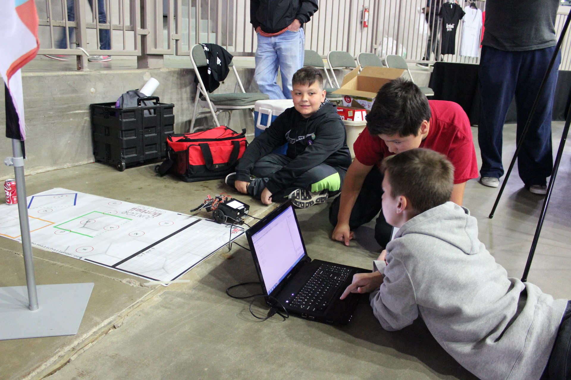 Students at a Botball Competition
