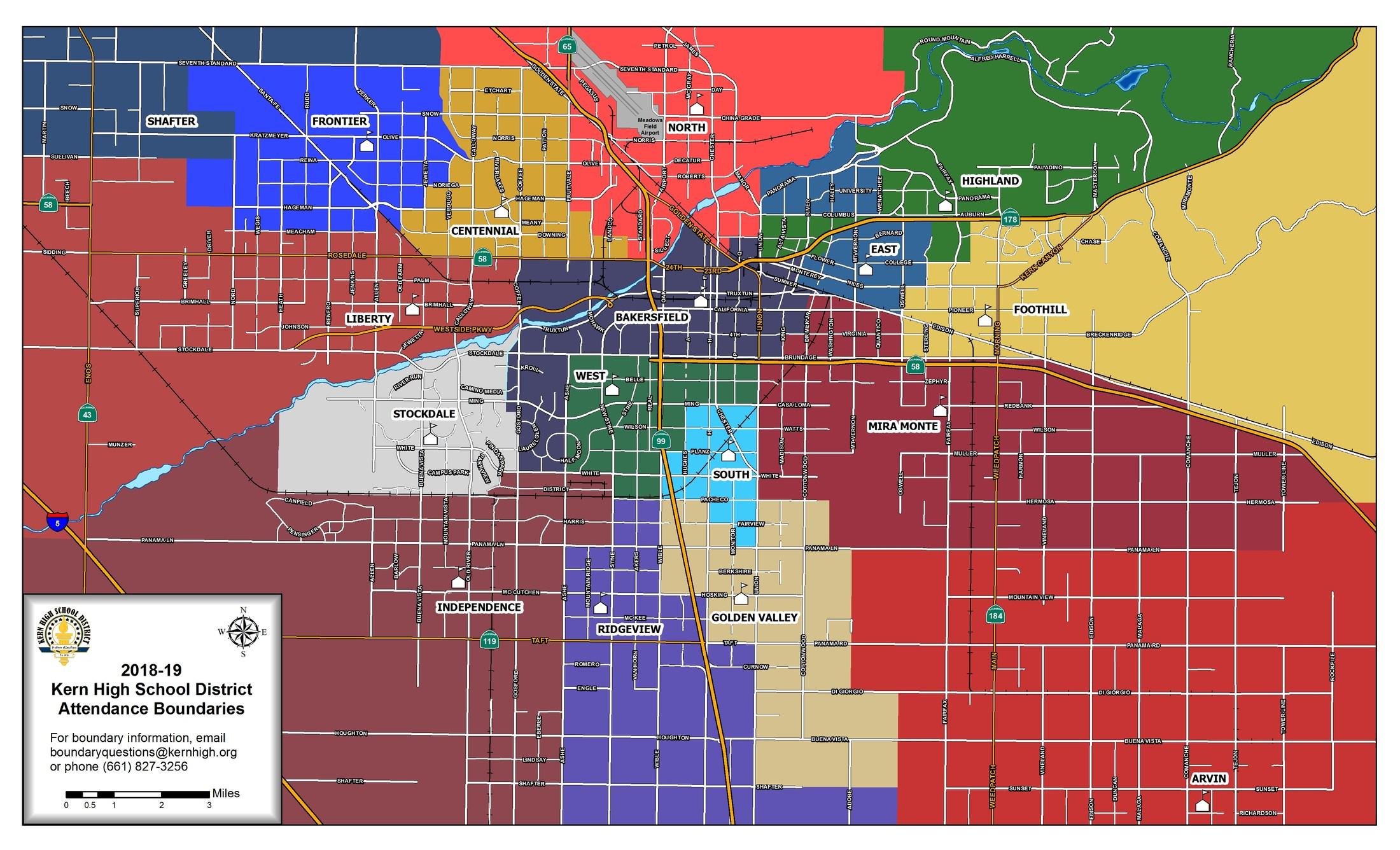 school boundaries - instruction division - kern high school