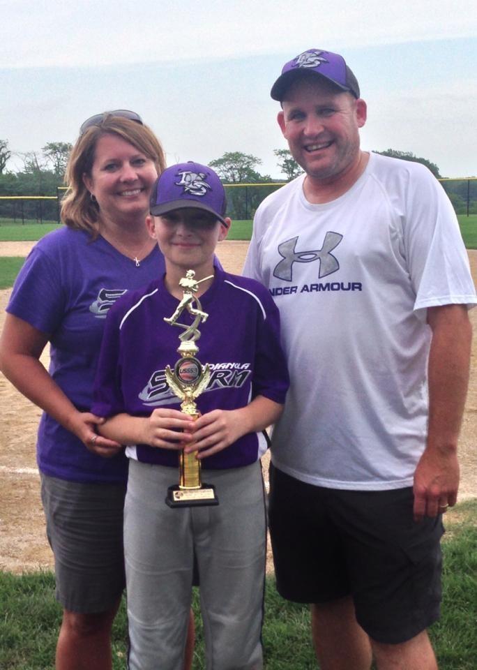 My son winning the 11USSSA State Championship!