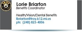 Lorie Briarton, lbriarton@troy.k12.mi.us.