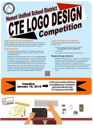 Career Technical Education's Logo Design Competition flyer.