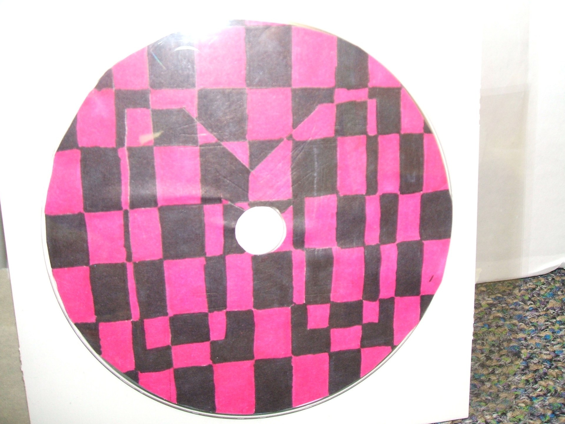 5th Grade op art based on the work of Victor Vasarely