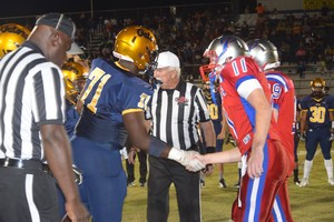 2016 Football Team Captains shaking hands