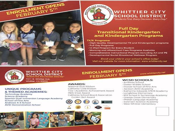 WCSD Enrollment Flyer