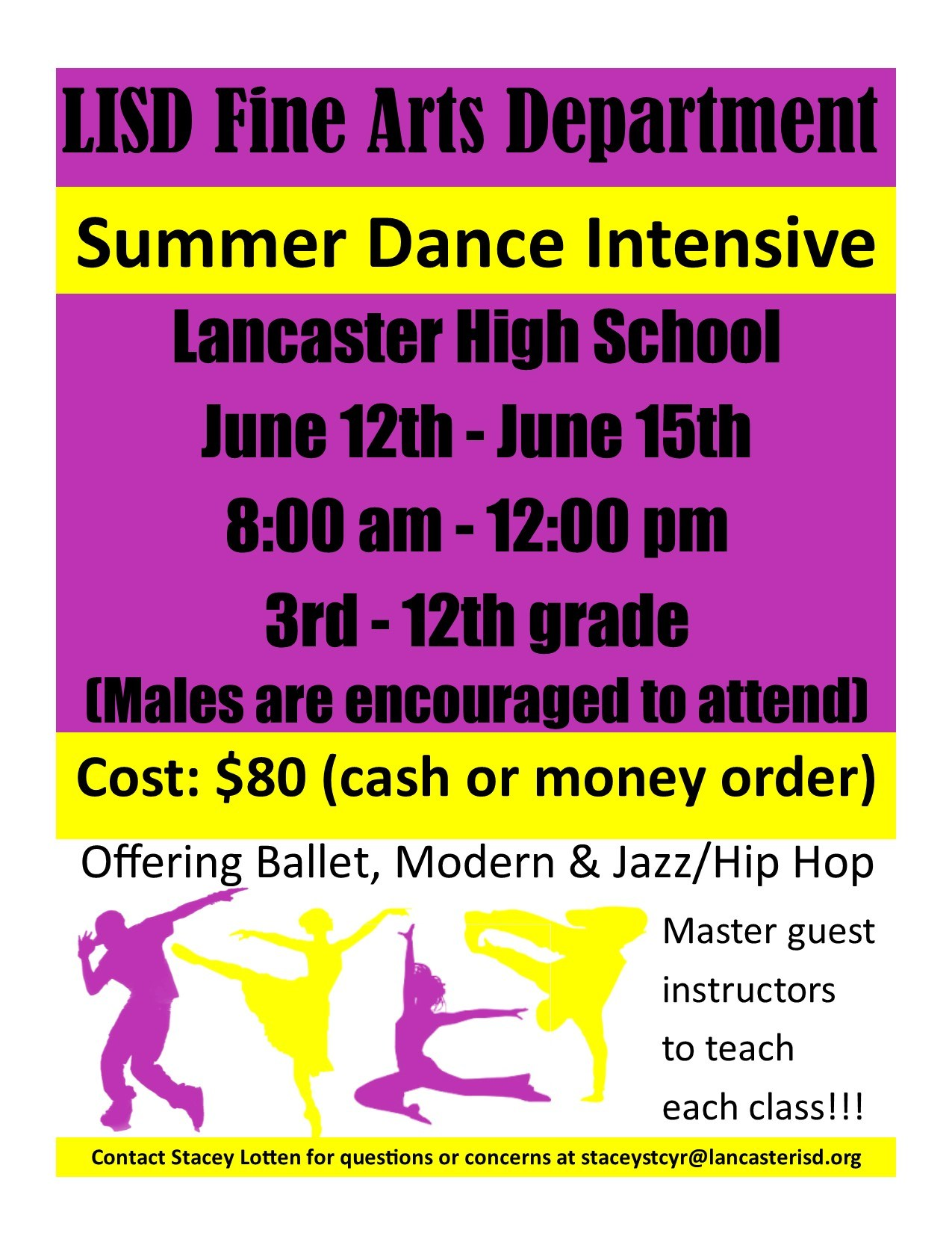 Summer Dance Program Flyer