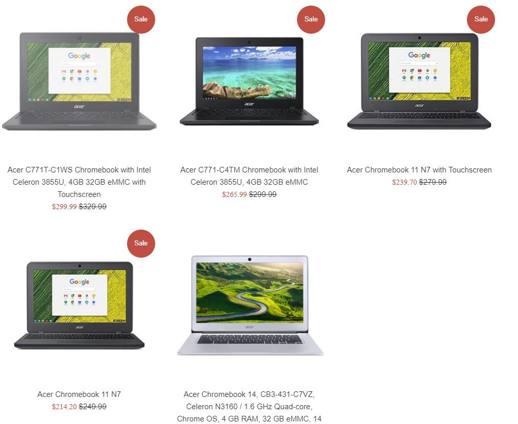 Acer Chromebook Pricing