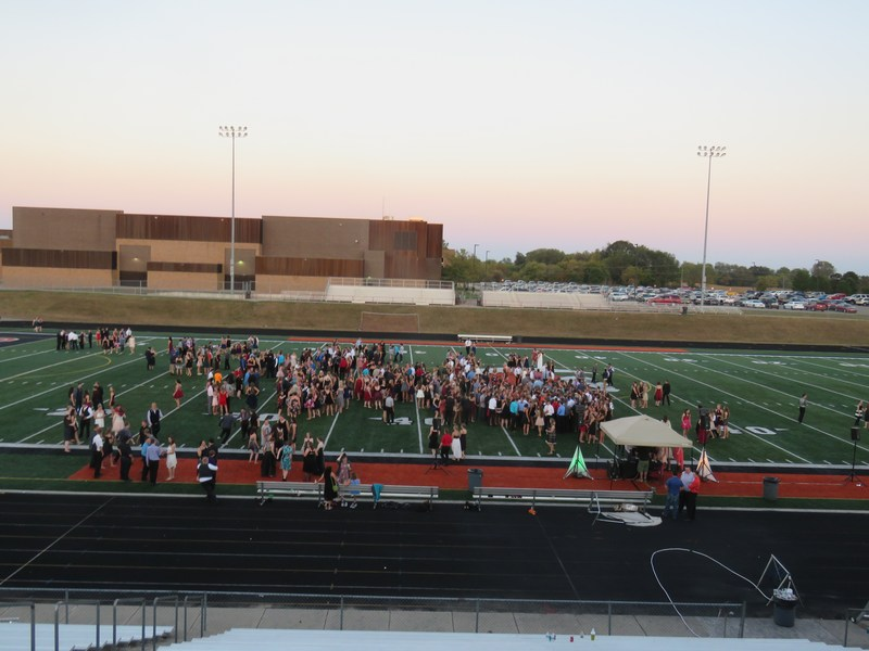 TKHS moved their homecoming dance outside on the football field when temperatures inside the gym reached 99 degrees before the dance even started.