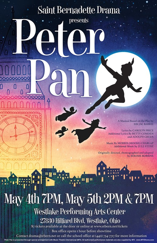 Saint Bernadette Drama presents Peter Pan Featured Photo