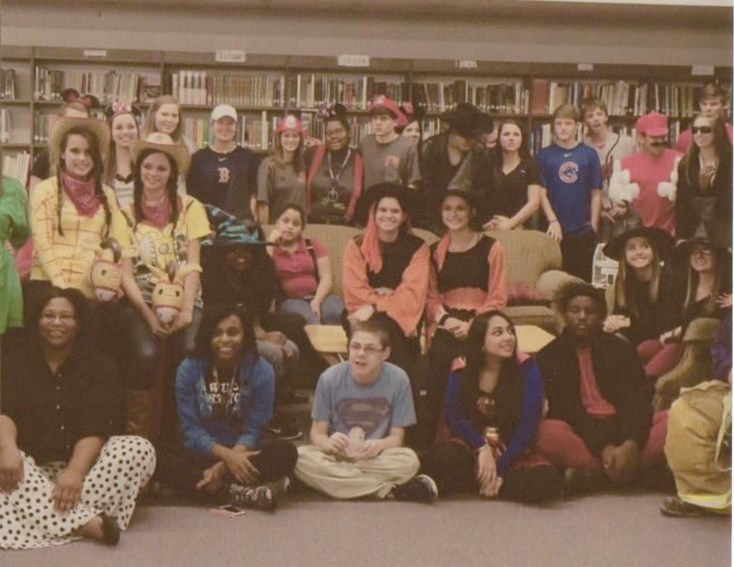 Group photo of students in costumes