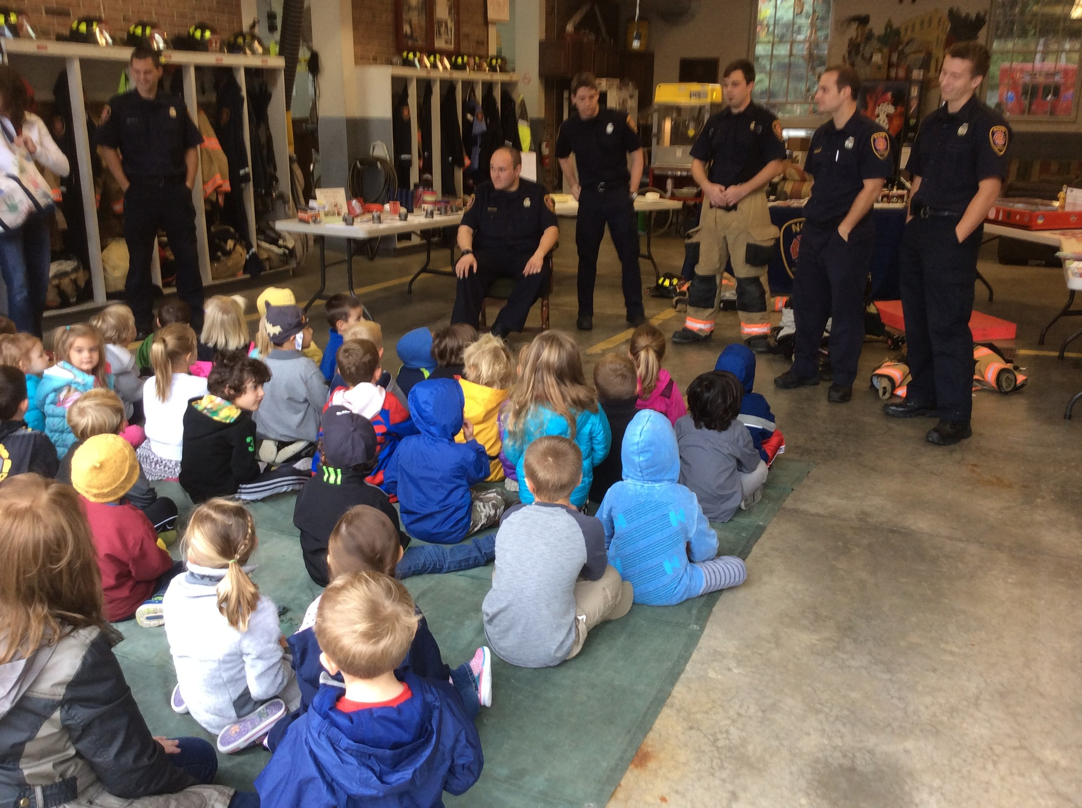 Visitors from Northville Fire Dept
