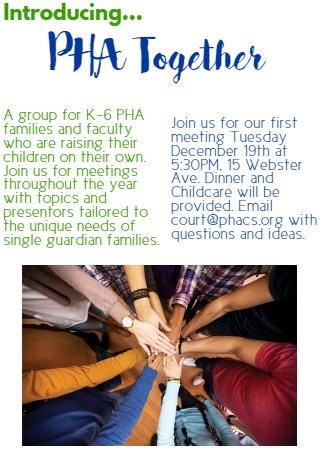 PHA Together flyer