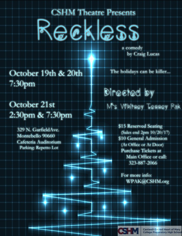Reckless Tickets on sale NOW! Thumbnail Image