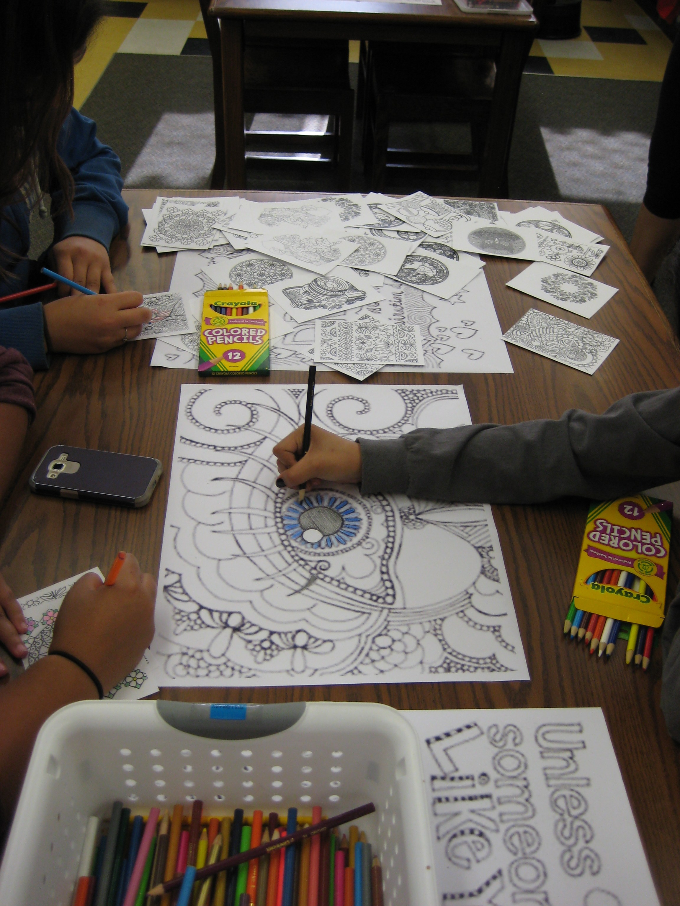Coloring station at 2016 Festival of Arts