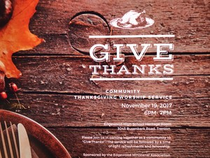 Thanksgiving Service Invitation
