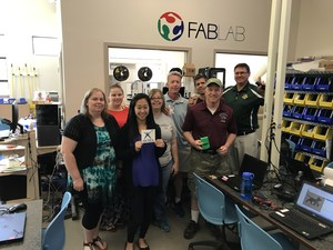 KHSD Teachers learning at the CSUB FABLAB.