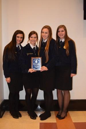 Picture L to R: Morgan Whitley, Shelby AuBuchon, McKenna Novicke, Brooke Babin