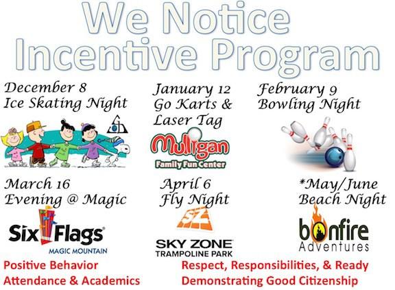 We Notice Incentive Program Image