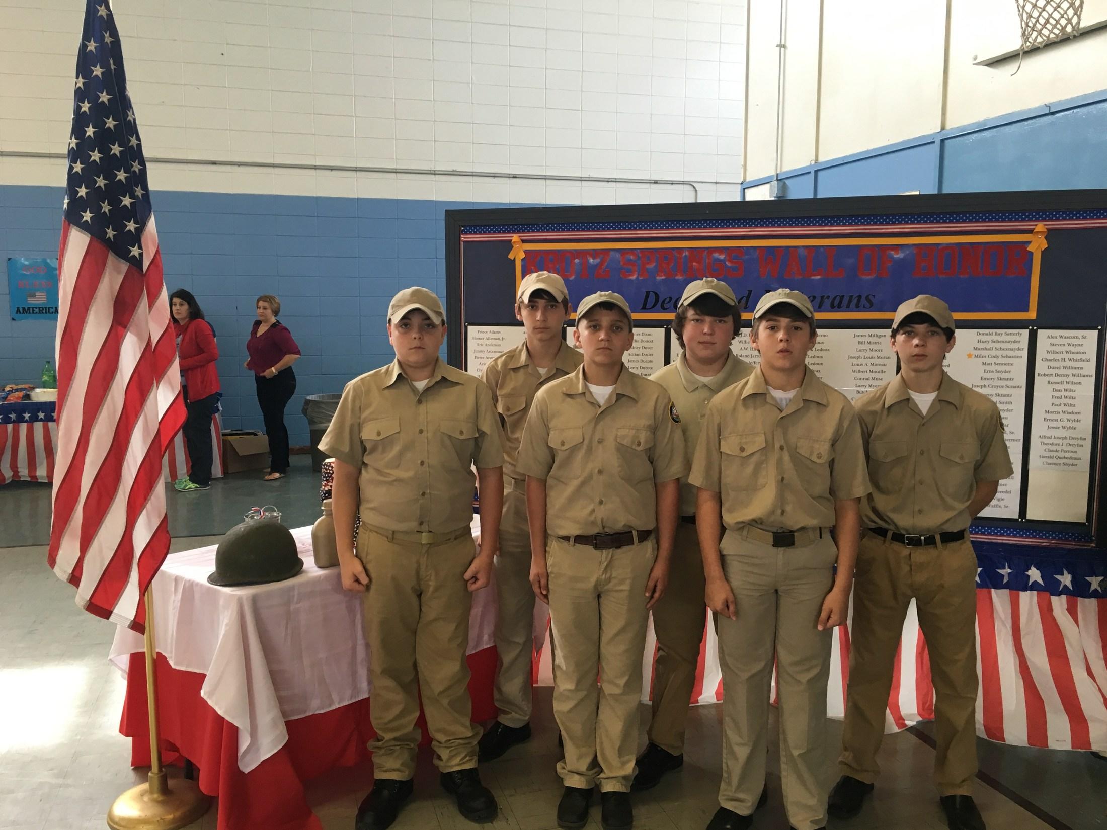 2016-17 Jr. ROTC cadets pic