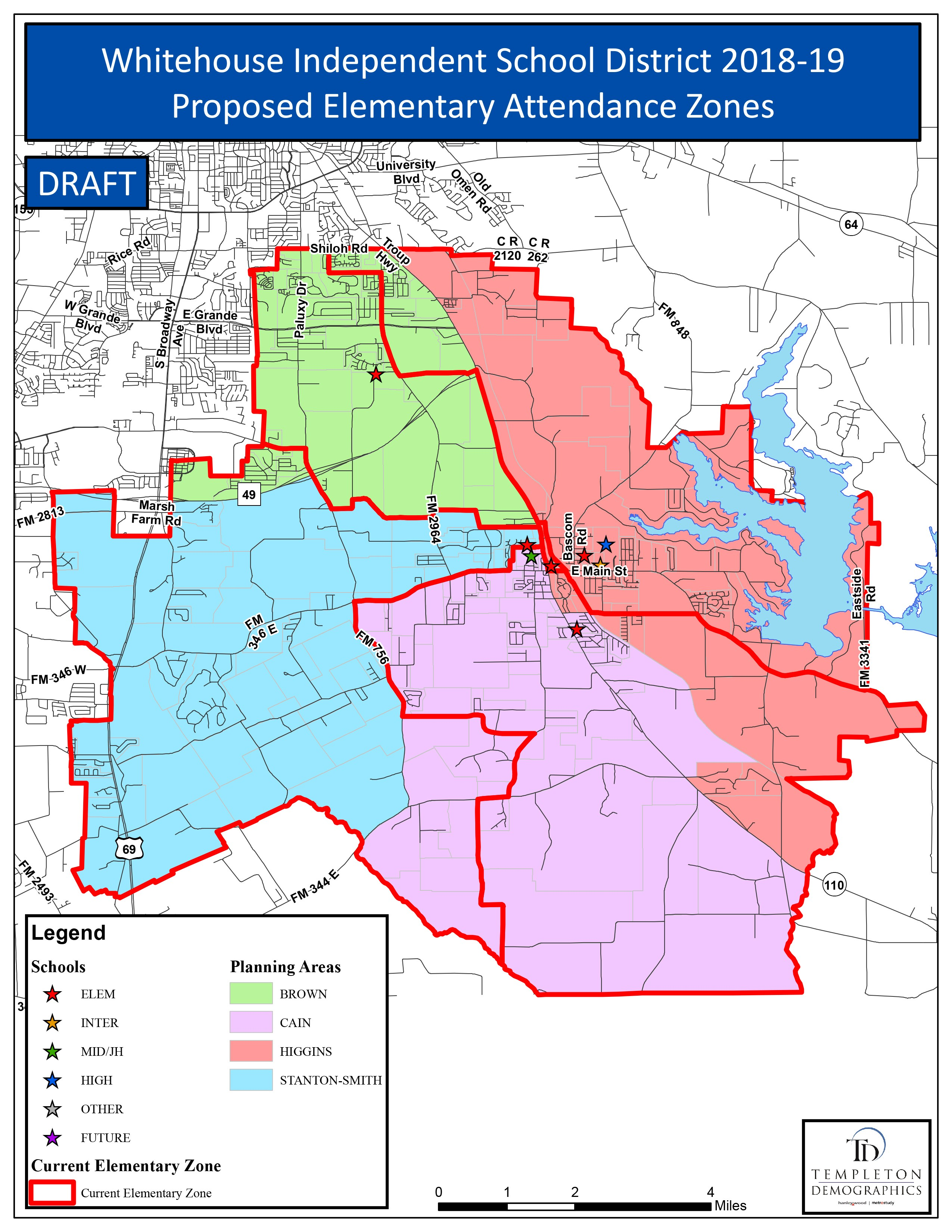 Map Of Texas School Districts.Whitehouse Independent School District