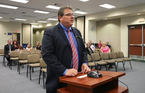 Darel Hansen at the Board Meeting.