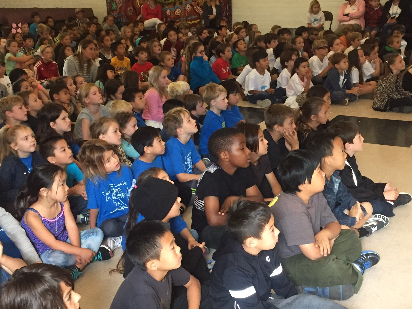 Students watch performance
