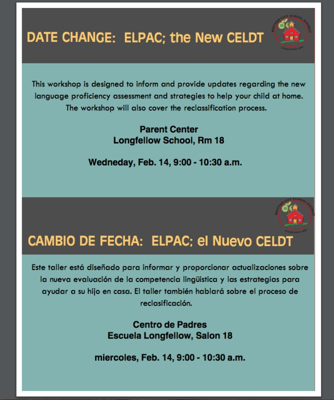 Date Change: ELPAC; the New CELDT Featured Photo