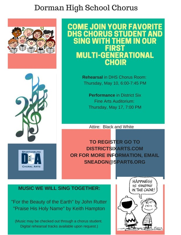 Multi-Generational Choir Flyer