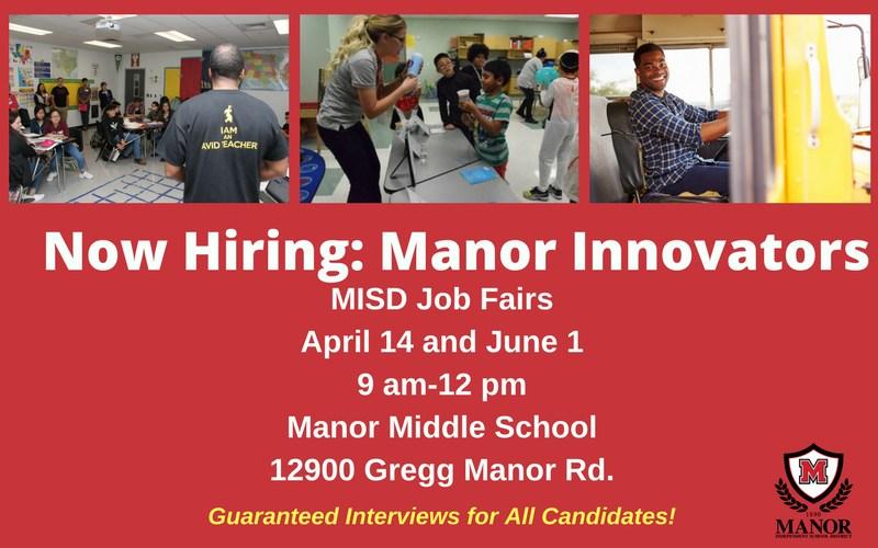 Manor ISD to Host Manor Innovator Job Fair Thumbnail Image