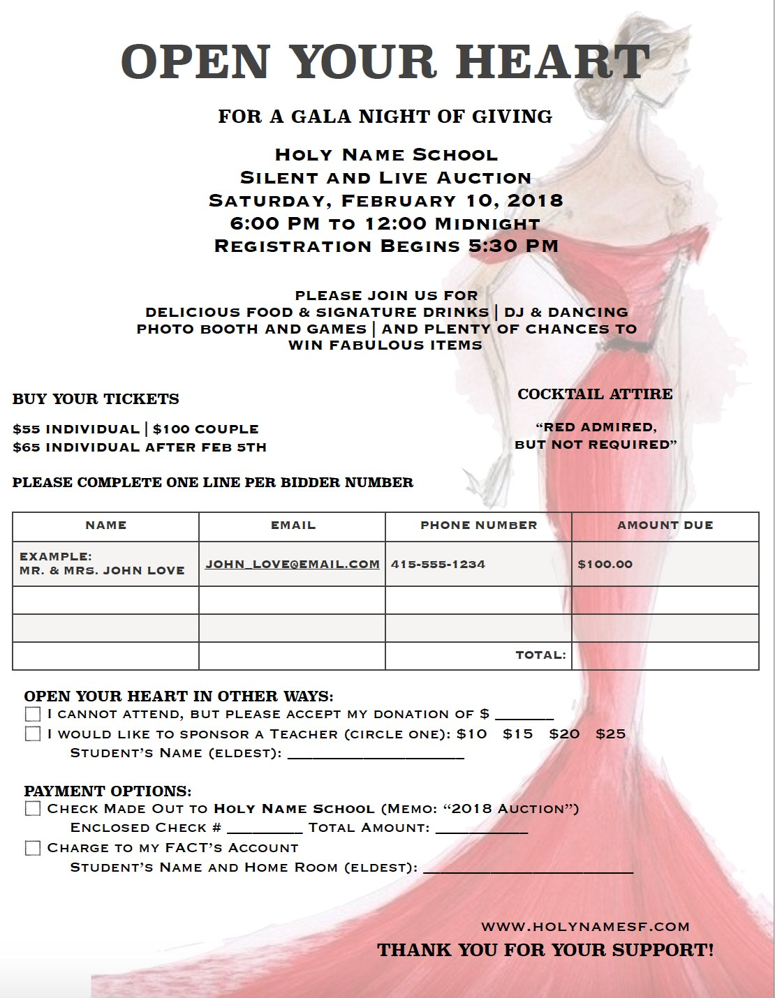 Auction invitation form auction holy name school auction invitation form thecheapjerseys Gallery