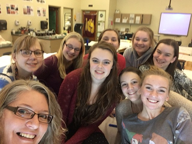 Dare to be Different members take a selfie having fun during one of their after-school get-togethers.