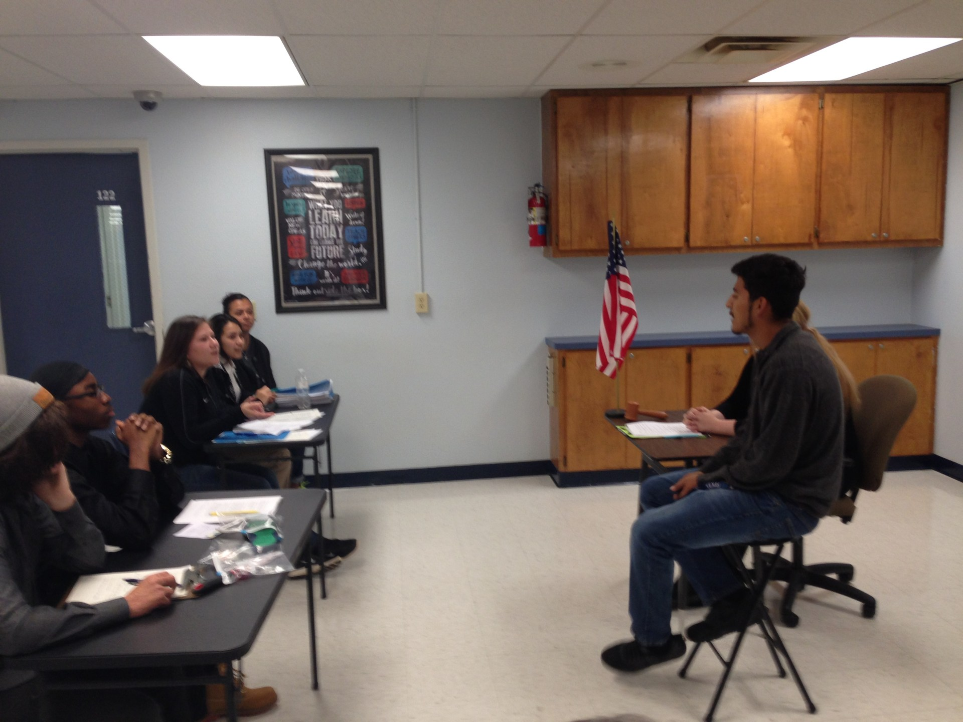 Empowerment students participate in a project-based learning mock trial.