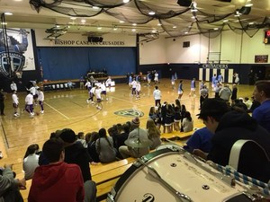 Boys BB Home Opener Warm Up