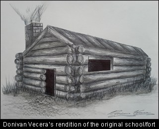 donivan vercera's rendition of the original school fort from victoria texas