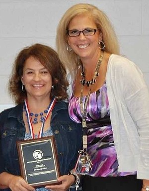 West Elementary 3rd grade teacher Sarah Preda is pictured here with West Principal Missy Muller.