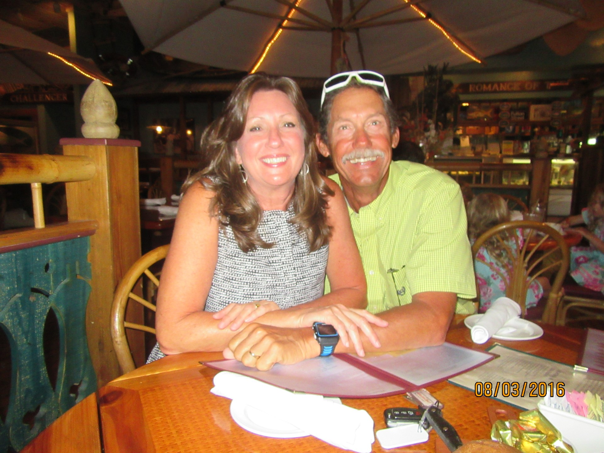 Dinner with my wife in Sanibel Island Florida