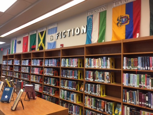 Mechanicsburg Middle School Library's Fiction Section