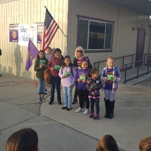 Students receiving the yard duty award 12/15/17
