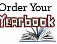 Clip art announcing to order yearbooks.
